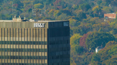 BB&T Building, Tallest Skyscarper in the City of Asheville, NC Stock Footage