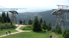 Summer day at Grouse Mountain, Vancouver B.C. Stock Footage