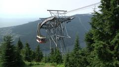 Alpine lift at Grouse Mountain, Vancouver B.C. Stock Footage