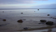 Stock Video Footage of Baltic sea stones.