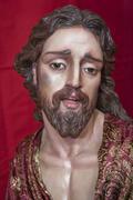 Exhibitor's religious figures Catholic Holy week in Spain Stock Photos