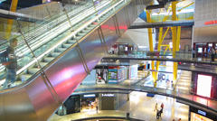 Spain Catalonia Barcelona Arenas de Barcelona, Moorish Bullring shopping center Stock Footage