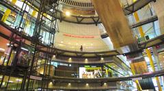 Spain Catalonia Barcelona Arenas de Barcelona, Moorish Bullring shopping center - stock footage