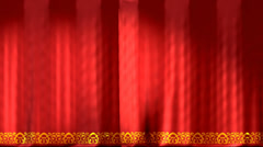Red theatre curtains - stock footage