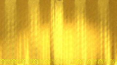 Golden theatre curtains Stock Footage