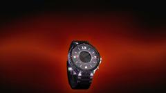 Futuristic wristwatch countdown Stock Footage