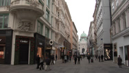 Stock Video Footage of Vienna old town streets with the view of the dome of Hofburg