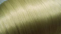 Highlight blond hair texture background Stock Footage