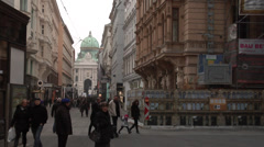 The dome of Hofburg, the Imperial Palace  Vienna old town Stock Footage