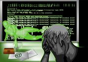 Stock Illustration of hacker attack