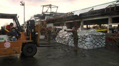 Typhoon Haiyan Evacuation Stock Footage