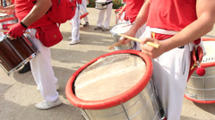 Drumming in the streets 5 Stock Footage