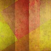 abstract geometric grunge background yelow and orange - stock illustration