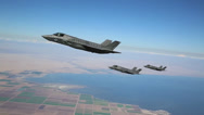 Stock Video Footage of KC-130J Refuels F-35B Lightning II joint strike fighters in mid-air