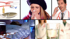 Flu and drugs Stock Footage