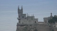 Yalta, Crimea, Swallow's Nest, building, history, building, kind on a sea Stock Footage