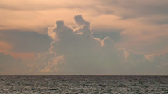 Indian Ocean and the swirling clouds. Stock Footage