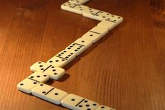 dominoes game - stock photo