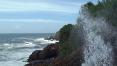 Momentarily Fountain of seawater at the Blow Hole Hummanaya. Sri Lanka. Stock Footage