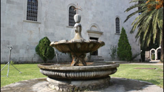 Monastery Savina, Montenegro, fountain Stock Footage