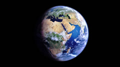 Earth Rotate Short Africa-America (Realistic) Stock Footage