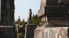 Monastery, graveyard Stock Footage