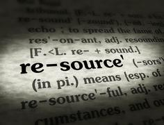 Stock Photo of Dictionary - Resource - Black On BG