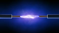 Electrical spark between  two  copper wires - looped Stock Footage