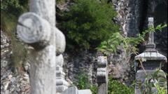 Graveyard, tombs Stock Footage