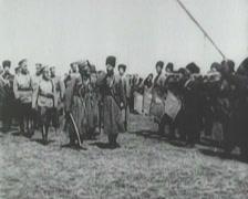 1914 - Czar Nicholas 2 - Troop review - 01 Stock Footage