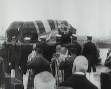 1914 - Franz Ferdinand Funeral Stock Footage