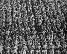 1920 - 1935 - Russian Propaganda Event 05 - stock footage
