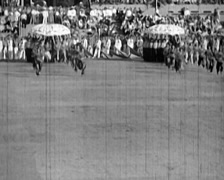 1920 - 1935 - Russian Propaganda Event 12 - stock footage