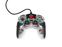 transparent joystick for games - stock photo