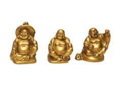 Three bronze buddha statues Stock Photos