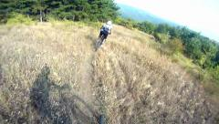 Hd: downhill cycling - stock video Stock Footage