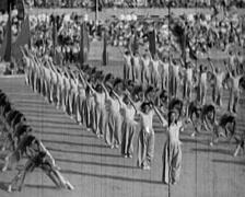 1920 - 1935 - Russian Propaganda Event 17 Stock Footage