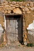 Door in las cruces district, alcala la real, andalusia, spain Stock Photos