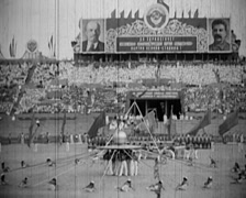 1920 - 1935 - Russian Propaganda Event 25 Stock Footage