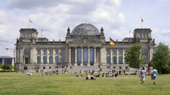 Bundestag in berlin Stock Footage