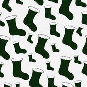 Stock Illustration of green christmas stocking textured fabric background