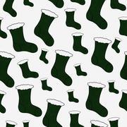 Green christmas stocking textured fabric background Stock Illustration