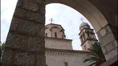 Monastery, architectural arch Stock Footage