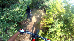 Hd: downhill sport race cycling - stock video Stock Footage