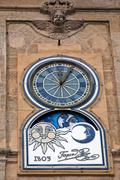 Clock of the town hall, alcala la real,  spain Stock Photos