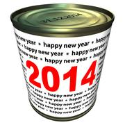 Happy new year 2014 - can with numbers 2014 Stock Illustration