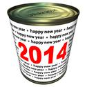 Stock Illustration of happy new year 2014 - can with numbers 2014