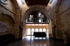 Dependencies of the abbey, Alcala la real, spain Stock Photos