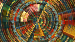 Abstract circle multicolored texture motion background seamless looping fractal Stock Footage