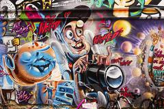 wicked photographer graffiti - stock photo